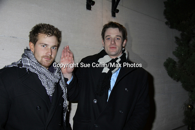 """Josh Kelly """"Cutter"""" & Tom Degnan """"Joey"""" at the One Life To Live 2010 Holiday Party was celebrated on December 21, 2010 at Capitale, New York City, New York. (Photo by Sue Coflin/Max Photos)"""