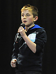 Patrick Halpin performing in the School Stars auditions in the TLT Drogheda. Photo: Colin Bell/pressphotos.ie