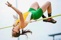Kaylyn Schultz of Baylor competes in High Jump during Baylor Invitational track meet, Friday, April 03, 2015 in Waco, Tex. (Mo Khursheed/TFV Media via AP Images)