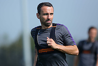 Pictured: Leon Britton in action Wednesday 14 September 2016<br />Re: Swansea City FC training at Fairwood, Wales, UK