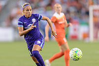 Monica Hickman Alves (21) of the Orlando Pride chases after a loose ball against the Houston Dash on Friday, May 20, 2016 at BBVA Compass Stadium in Houston Texas. The Orlando Pride defeated the Houston Dash 1-0.