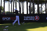 Alexander Levy (FRA) tees off the 10th tee during Thursday's Round 1 of the 2018 Turkish Airlines Open hosted by Regnum Carya Golf &amp; Spa Resort, Antalya, Turkey. 1st November 2018.<br /> Picture: Eoin Clarke | Golffile<br /> <br /> <br /> All photos usage must carry mandatory copyright credit (&copy; Golffile | Eoin Clarke)