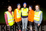 Natalie O'Connell, Hilda Jones, Mike Brosnan, Kathleen Curtin and Sarah Brosnan ready to take the Couch to 5k Born to Run for fun in the Aquadome on Tuesday