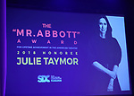On stage atmostpher at the Stage Directors and Choreographers Foundation event honoring Julie Taymor with the Mr. Abbott Award at the Bohemian National Hall on April 2, 2018 in New York City.
