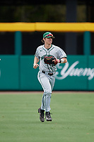 Dartmouth Big Green center fielder Trevor Johnson (36) jogs back to the dugout during a game against the USF Bulls on March 17, 2019 at USF Baseball Stadium in Tampa, Florida.  USF defeated Dartmouth 4-1.  (Mike Janes/Four Seam Images)