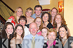 FAMILIES: Michael Spillane and Maura Lynan, Maharees, Castlegregory (front centre) who celebrated their 60th birthdays.in Lord Kenmares Restaurant, Killarney, last Saturday night with their families.