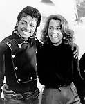 MICHAEL JACKSON 1983 with Jane Fonda