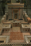 Israel, Jerusalem Old City, a model of the Second Temple at the Temple Institute in the Jewish Quarter