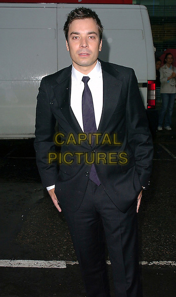 """JIMMY FALLON.""""The Perfect Catch"""" (formerly """"Fever Pitch"""")- VIP screening at The Electric Cinema, London, W10..July 27th, 2005.half length hands in pockets black suit jacket.www.capitalpictures.com.sales@capitalpictures.com.©Capital Pictures"""