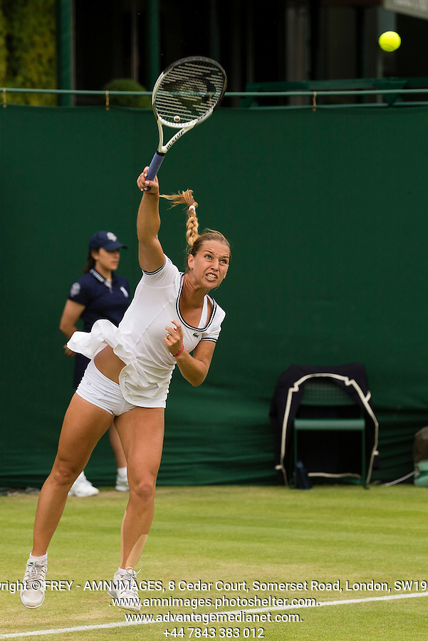 Dominika Cibulkova<br /> <br /> Tennis - The Championships Wimbledon  - Grand Slam -  All England Lawn Tennis Club  2013 -  Wimbledon - London - United Kingdom - Thursday 27th June  2013. <br /> &copy; AMN Images, 8 Cedar Court, Somerset Road, London, SW19 5HU<br /> Tel - +44 7843383012<br /> mfrey@advantagemedianet.com<br /> www.amnimages.photoshelter.com<br /> www.advantagemedianet.com<br /> www.tennishead.net