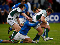 Photo: Richard Lane/Richard Lane Photography. Ireland U20 v Italy U20. Semi Final. 18/06/2008. Ireland's Patrick Mallon attacks.