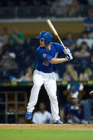 Nick Ciuffo (19) of the Durham Bulls at bat against the Louisville Bats at Durham Bulls Athletic Park on May 28, 2019 in Durham, North Carolina. The Bulls defeated the Bats 18-3. (Brian Westerholt/Four Seam Images)