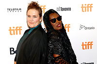 Director Sophie Fiennes and Grace Jones attending the 'Grace Jones: Bloodlight and Bami' premiere during the 42nd Toronto International Film Festival at Elgin Theatre on September 07, 2017  in Toronto, Canada