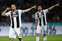 Giorgio Chiellini and Leonardo Bonucci of Juventus <br /> Milano 27-04-2019 Stadio Giuseppe Meazza <br /> Football Serie A 2018/2019 FC Internazionale - Juventus FC <br /> photo Image Sport / Insidefoto