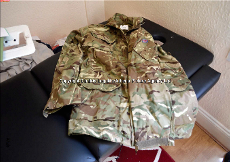 Pictured: Army clothing recovered from the house of Kristen Brekke<br />