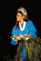 Hawaiian Hula dancer at Merrie Monarch festival