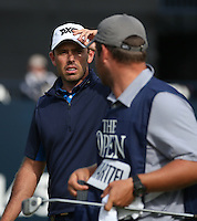 Charl Schwartzel (RSA) completes Round One of the 145th Open Championship, played at Royal Troon Golf Club, Troon, Scotland. 14/07/2016. Picture: David Lloyd | Golffile.<br /> <br /> All photos usage must carry mandatory copyright credit (&copy; Golffile | David Lloyd)
