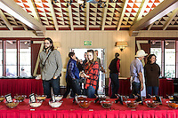 Alisal BBQ Bootcamp participants enter the Cottonwood Room in for the Spice Blending Workshop. The Alisal Guest Ranch and Resort, Solvang, California.