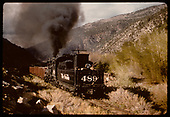 D&amp;RGW #489 K-36 with gondolas in Monarch area.<br /> D&amp;RGW  Monarch area, CO