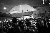 Warsaw 10 April 2010 Poland.<br /> Mourning after the crash of the plane TU - 154, in which killed President Lech Kaczynski and his wife Maria Kaczynska and the most important person in the state.<br /> The Presidential Palace<br /> <br /> (Photo by Filip Cwik / Newsweek Poland / Napo Images)<br /> <br /> Warszawa 10 kwiecien  2010 Polska<br /> Zaloba po katastrofie samolotu TU - 154, w ktorej zginal Prezydent RP Lech Kaczynski wraz z zona Maria Kaczynska oraz najwazniejsze osoby w panstwie.<br /> n/z Palac Prezydencki <br /> (fot. Filip Cwik / Newsweek Polska / Napo Images)