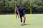 CARY, NC - JULY 27: Mia Gyau. The North Carolina Courage held a training session on July 27, 2017, at WakeMed Soccer Park Field 7 in Cary, NC.