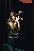 College photographer at the annual X-Foto competition in the Hair & Beauty Department at Kingston College, London.