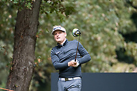 Soren Kjeldsen (DEN) in action on the 9th hole during the first round of the 76 Open D'Italia, Olgiata Golf Club, Rome, Rome, Italy. 10/10/19.<br /> Picture Stefano Di Maria / Golffile.ie<br /> <br /> All photo usage must carry mandatory copyright credit (© Golffile | Stefano Di Maria)