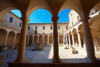 Cloisters of the monartery of St Francis, Zadar, Croatia