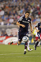 New England Revolution midfielder Marko Perovic (29) drives for the net and a score. The New England Revolution defeated the New York Red Bulls, 3-2, at Gillette Stadium on May 29, 2010.