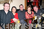 Ladies In Red, Men In Black : Attending the Abbefeale Community Development Association's Ladies In Red, Men In Black event at TJ O'Riordan's Bar, Abbeyfeale on Friday night were Sean Paul Greaney, Eileen Healy, Steve Byrne, Gretta & Jimmy Harnett.