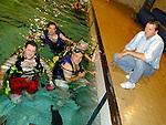 Open night in the Drogheda Sub Aqua Club in the Drogheda Swimming pool .Pic Fran Caffrey Newsfile