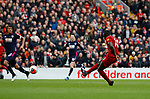 Sadio Mane of Liverpool scores their second goal (2-1)  during the Premier League match at Anfield, Liverpool. Picture date: 7th March 2020. Picture credit should read: Darren Staples/Sportimage