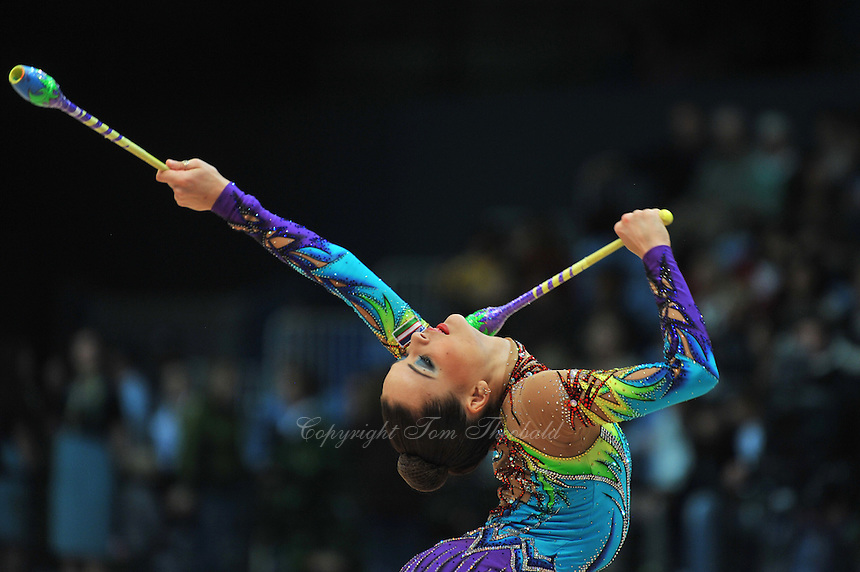 Ulyana Trofimova of Uzbekistan performs gala at 2011 World Cup at Portimao, Portugal on May 01, 2011.