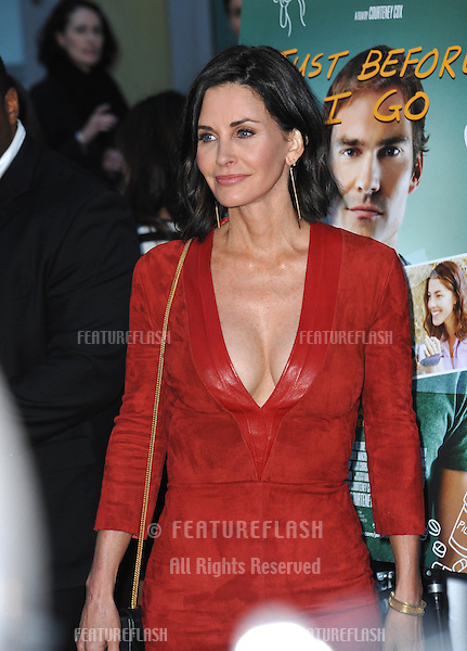 Courteney Cox at the premiere of her movie &quot;Just Before I Go&quot; at the Arclight Theatre, Hollywood.<br /> April 20, 2015  Los Angeles, CA<br /> Picture: Paul Smith / Featureflash