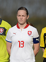 20150307 - TUBIZE , BELGIUM : Czech Alice Nemeckova pictured during the friendly female soccer match between Women under 19 teams of  Belgium and Czech Republic . Saturday 7th March 2015 . PHOTO DAVID CATRY