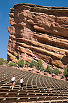 Women running at Red Rocks Amphitheater, Golden, Colorado. John offers private photo tours of Denver, Boulder and Rocky Mountain National Park. .  John offers private photo tours in Denver, Boulder and throughout Colorado. Year-round.