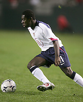 Freddy Adu, USA over Trinidad, 6-1, Wednesday, Jan. 12, 2005, in Carson, California.