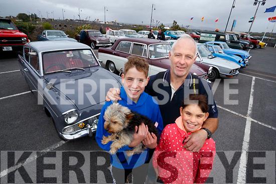 Rory Mike and Layla O'Halloran, Tralee with their dog Joy pictured at the Blennerville Treshing Festival on Sunday.