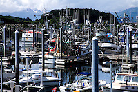 St. Paul Boat Harbor, one of two harbors in Kodiak which are home to its massive fishing fleet. Kodiak, Alaska