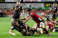1st August 2020, Hamilton, New Zealand;  Naitoa Ah Kuoi dives but comes up short of the line. Chiefs versus Crusaders, Super Rugby Aotearoa, FMG Waikato Stadium, Hamilton, New Zealand.
