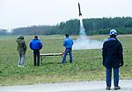 Lovett Reddick, launching his V2 rocket ..Tripoli amatuer rocket festival..Manchester, Tennessee.