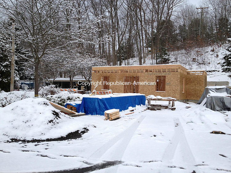 OXFORD, CT - 12 December 2013 - 121213QL01 - Work is progressing on the Oxford Animal Shelter renovation off Route 67 in Oxford. The foundation is completed, and volunteers now are working on the framing, Selectman Jeffrey J. Haney Sr. said Wednesday. He said he hopes the roof is completed before the end of the year. Quannah Leonard Republican-American
