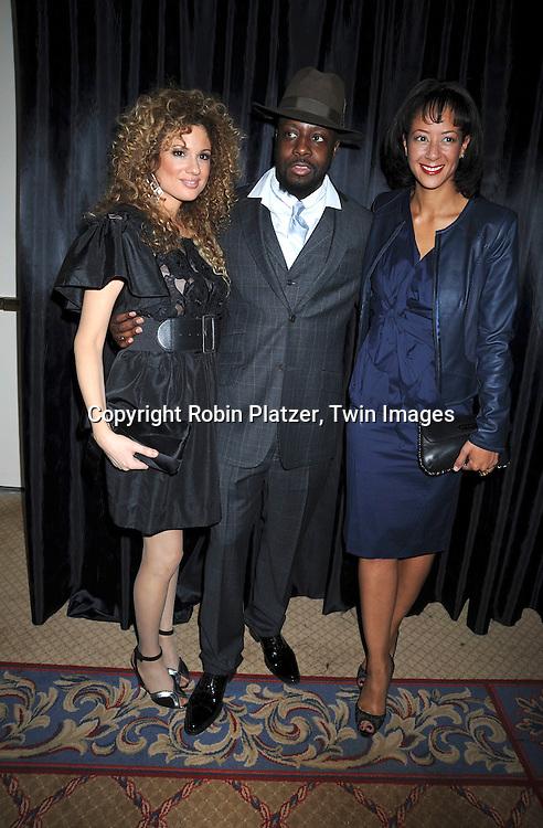 Miri Ben-Ari, Wyclef Jean and Lisa Ellis