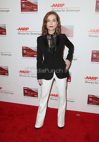 Beverly Hills, CA - FEBRUARY 06: Isabelle Huppert, At 16th Annual AARP The Magazine's Movies For Grownups Awards, At The Beverly Wilshire Four Seasons Hotel In California on February 06, 2017. Credit: Faye Sadou/MediaPunch