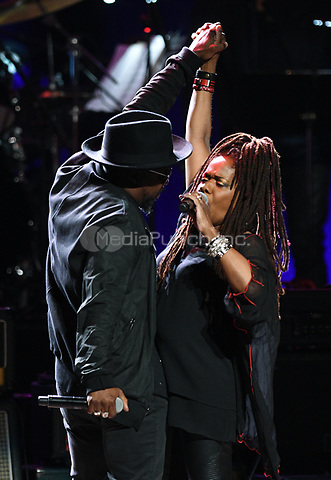 NEW YORK, NY - March 9 : Anthony Hamilton, Catherine Russell Performs on stage at 'Love Rocks NYC! A Change is Gonna Come: Celebrating Songs of Peace, Love and Hope' A Benefit Concert for God's Love We Deliver at Beacon Theatre on March 9, 2017 in New York City. @John Palmer / Media Punch