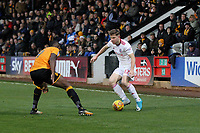 Jordan Thorniley of Accrington Stanley takes on Uche Ikpeazu of Cambridge United during Cambridge United vs Accrington Stanley, Sky Bet EFL League 2 Football at the Cambs Glass Stadium on 11th November 2017