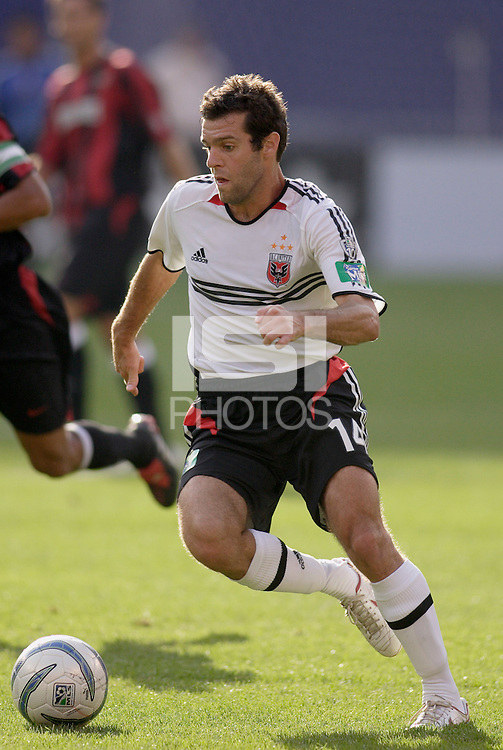D.C. United's Ben Olsen. The MetroStars played D.C United to a 0 -0 tie at Giant's Stadium, East Rutherford, NJ, on June 12, 2005.