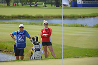 Charley Hull (ENG) looks over her chip shot on 18 during round 4 of the 2018 KPMG Women's PGA Championship, Kemper Lakes Golf Club, at Kildeer, Illinois, USA. 7/1/2018.<br /> Picture: Golffile | Ken Murray<br /> <br /> All photo usage must carry mandatory copyright credit (&copy; Golffile | Ken Murray)