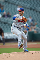 Buffalo Bisons starting pitcher Thomas Pannone (47) in action against the Caballeros de Charlotte at BB&T BallPark on July 23, 2019 in Charlotte, North Carolina. The Bisons defeated the Caballeros 8-1. (Brian Westerholt/Four Seam Images)