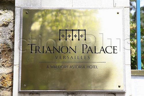 21.04.2016. Versailles, Paris, France. Ireland national football team headquarters for the Euro 2016 football tournament.  Hotel Trianon Palace